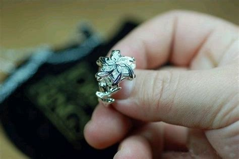 s925 sterling silver lord of the ring galadriel nenya ring