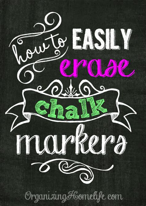chalkboard paint how to clean how to erase chalk markers easily organizing homelife