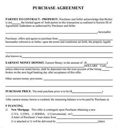 Template For Purchase Agreement by Purchase Agreement 8 Free Documents In Pdf Word