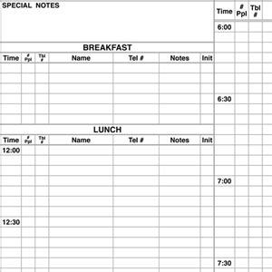 Reservation Books Reservation Book For Restaurants Template