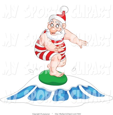 surfing santa clipart clipartsgram com