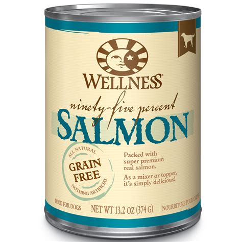 can dogs salmon wellness 95 salmon canned food petco