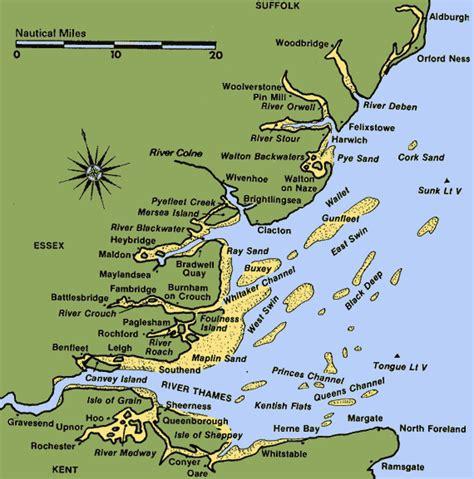 river thames map distances image gallery thames estuary