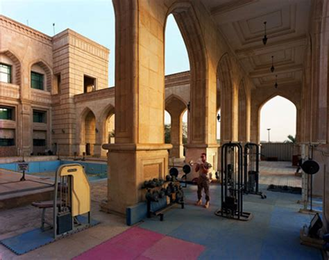 outdoor weight room saddam hussein s destroyed recycled palaces pics