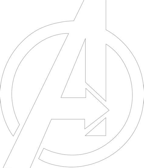avengers symbol coloring page avengers symbol outline by mr droy on deviantart