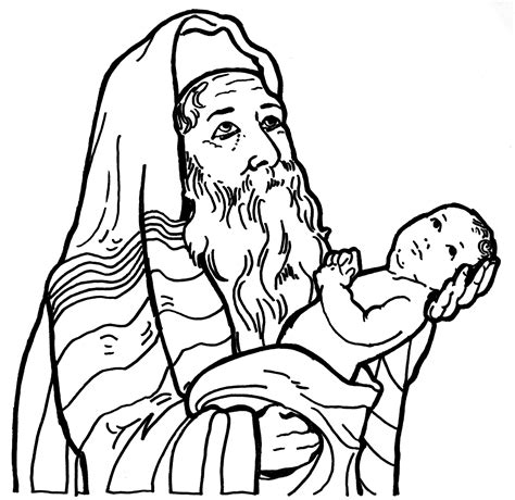 coloring pages baby jesus in the temple the presentation in the temple learn to coloring