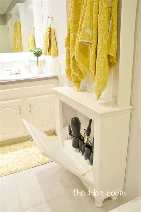 bathroom storage for hair tools hair tool storage cabinet the idea room