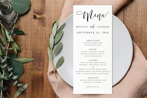 Free Printable Menu Templates For Wedding by 15 Wedding Menu Card Designs Design Trends Premium