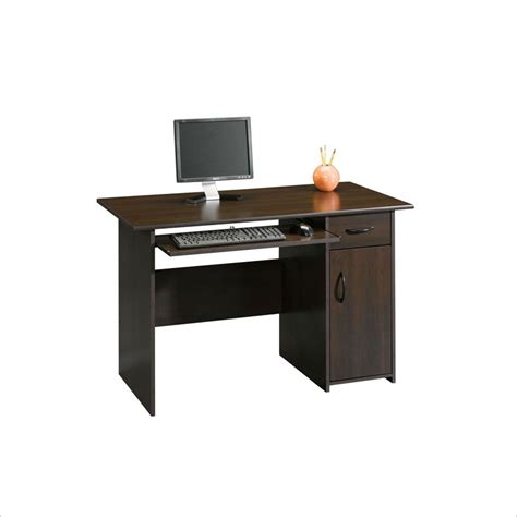 sauder beginnings computer desk sauder beginnings cinnamon cherry computer desk