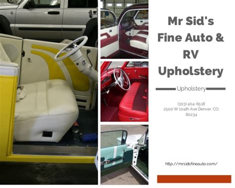 learn auto upholstery our work mr sid s fine auto rv upholstery