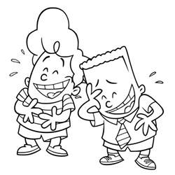 Pin Captain Underpants Print And Color On Pinterest Captain Underpants Coloring Pages