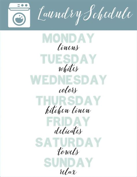printable laundry schedule laundry schedule printable sarah halstead