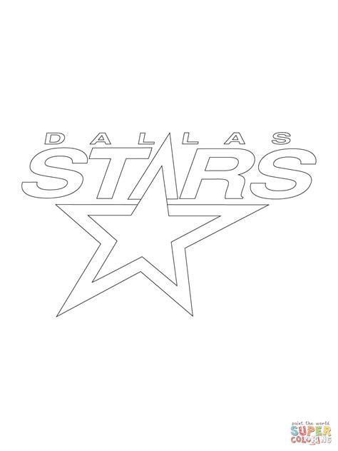 Dallas Stars Coloring Page | dallas stars logo coloring page free printable coloring