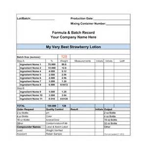 manufacturing practices formula batch records