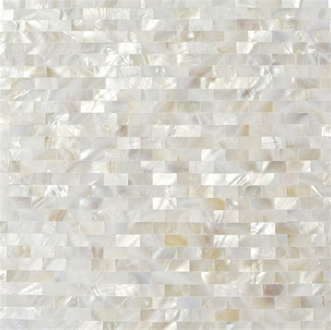 of pearl tile shop 12 x 12 serene white bricks groutless polished pearl shell glass tile in white at tilebar