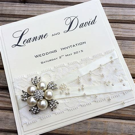 Handcrafted Wedding Invites - a4 card in matt white imagine diy