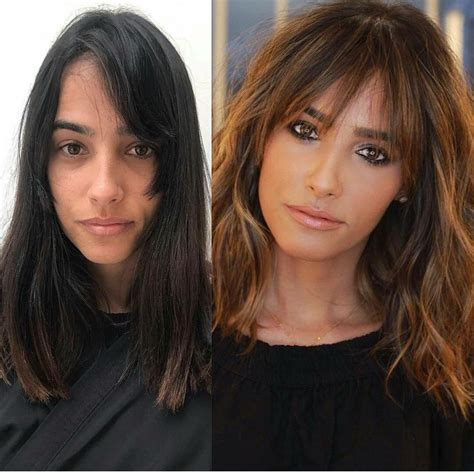 Catwalk Hair Before And After Bangs | bangs before after transformation hair bangs