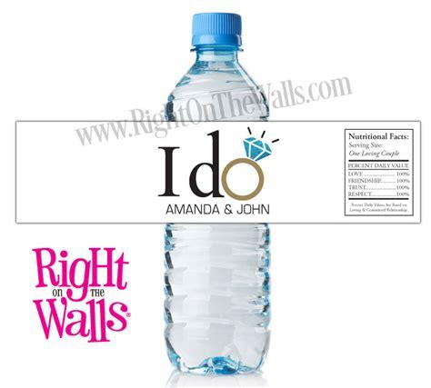 vintage wedding personalized water bottle labels wedding water