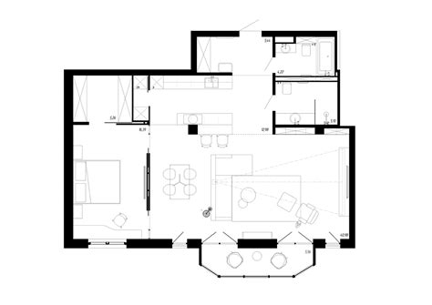 bachelor pad floor plans a beautiful one bedroom bachelor apartment 100 square meters with floor plan