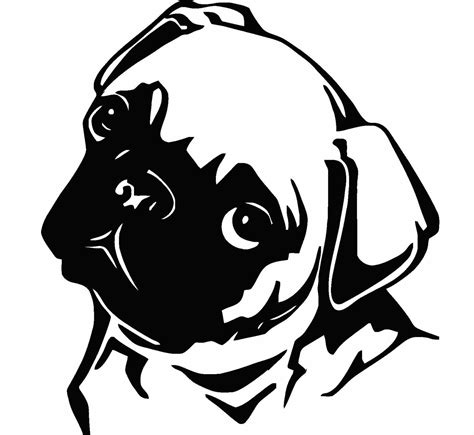 pug stickers pug vinyl decal f43