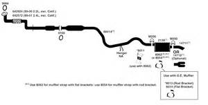 Exhaust System Diagram 1998 Chevy Cavalier Chevrolet Cavalier Exhaust Diagram From Best Value Auto Parts