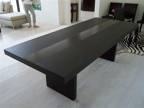 simple modern furniture featuring with black stained wooden dining table with black stained
