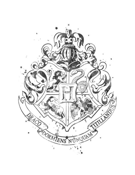 emblem black and white black and white hogwarts emblem pictures to pin on