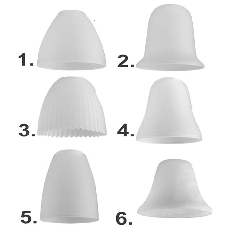 Glass Pendant Light Shades Replacement Set Of 3 White Glass Domed Ceiling Light Pendant Shades Replacement L Frosted Ebay