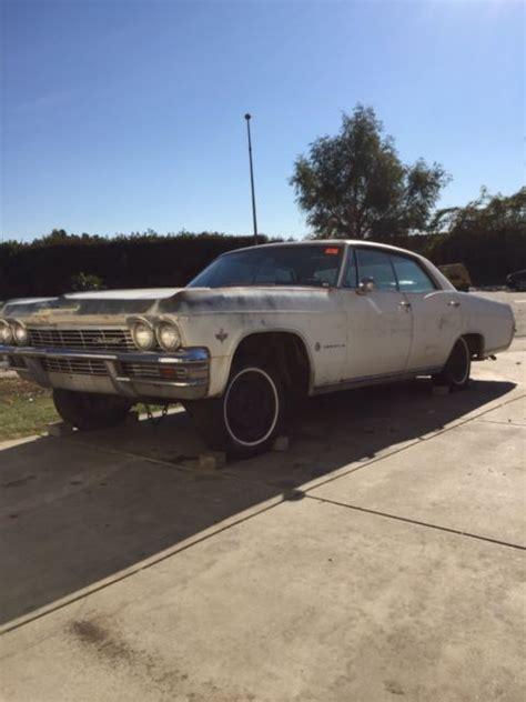 chevy impala parts 1965 chevy impala 4 door hardtop parts car or rebuild