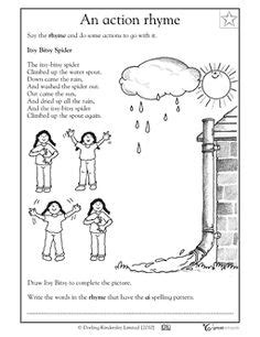 coloring page of water spout the itsy bitsy spider rhyme coloring page