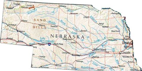 us map nebraska state map of nebraska ne state map