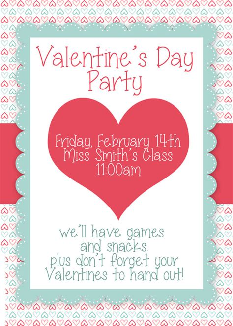 Valentine S Day Party Free Printables How To Nest For Less S Day Invitation Template
