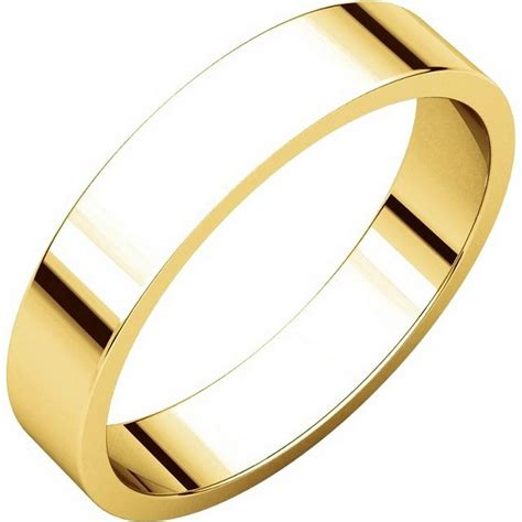 n012504e 18k plain 4mm wide flat wedding band