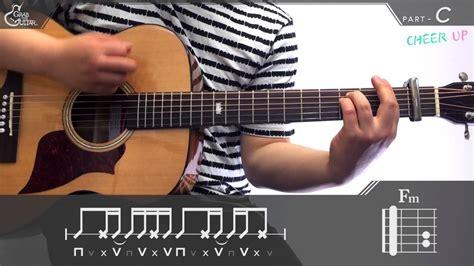 tutorial guitar up 그랩더기타 cheer up twice 트와이스 guitar tutorial 기타 강좌