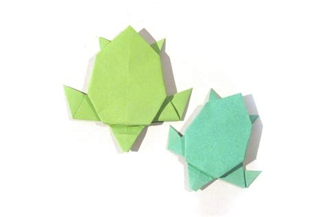 How To Make A Paper Turtle - origami turtle version tutorial how to make an