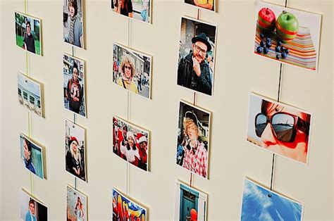 creative ways to display photos without frames magnetic photo rope a cool way to display your images