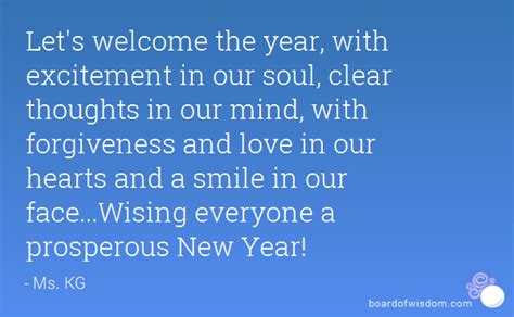 let s welcome the year with excitement in our soul clear