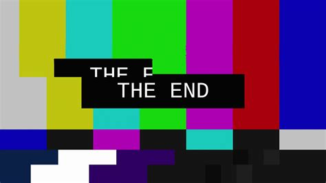 The 1 2 End By Rikachi smpte color bars glitch the end glitched transmission distorted noisy signal of smpte color