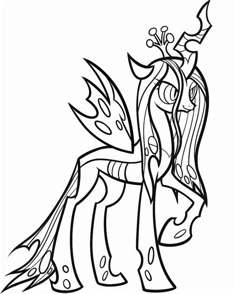 queen chrysalis my little pony coloring pages sketch