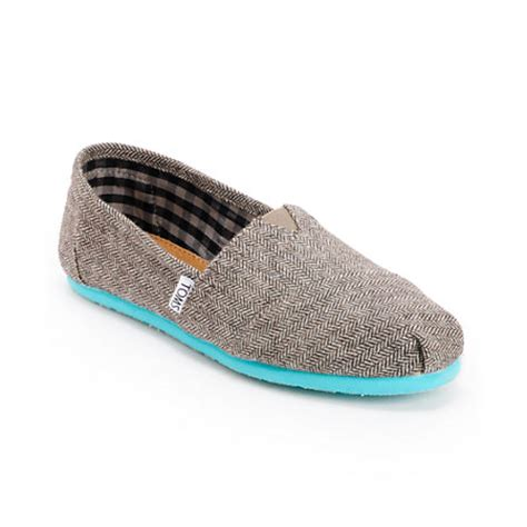 Toms Shoes Gift Card Balance - toms classics teal pop herringbone women s shoe at zumiez pdp