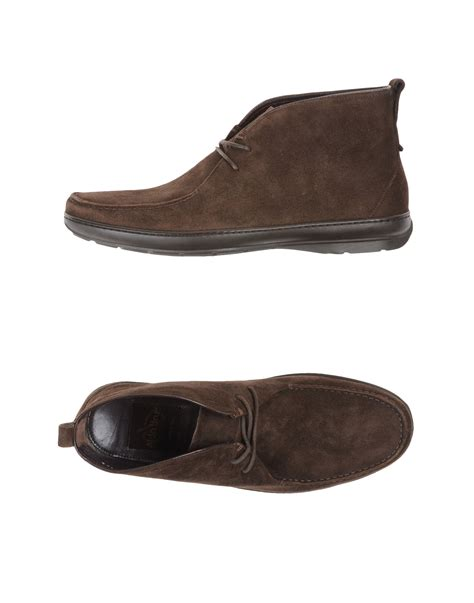 aldo brue hightop dress shoe in brown for lyst