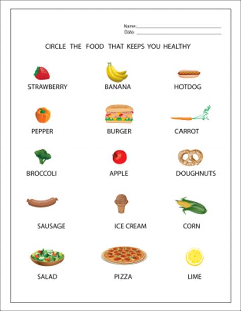 Healthy Snacks Worksheet by Free Printable Worksheets Calendars Invitations Cards