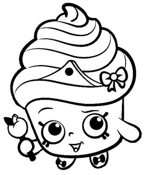 shopkins coloring pages cupcake queen shopkins cupcake queen black and white google search