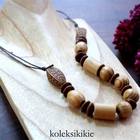 tutorial yang unik membuat kalung kayu yang unik koleksikikie