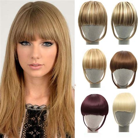 fake bangs clip for thin hair steps to 1 piece clip in extensions makeup brushes tools