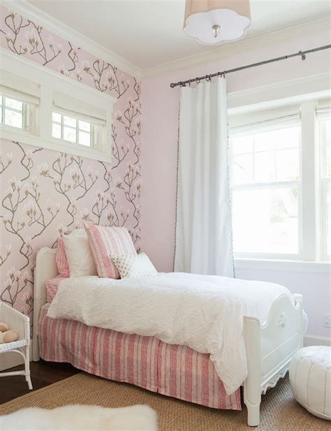 pink wallpaper for bedroom beautiful girls bedroom features cole son magnolia pink