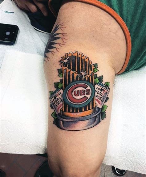 world series tattoo 80 chicago cubs designs for baseball ideas