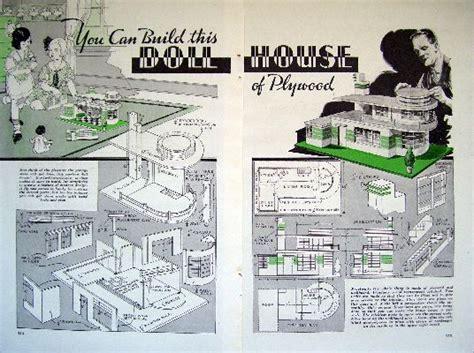 deco dollhouse plans 1937 deco dollhouse how to build w plywood plan ebay