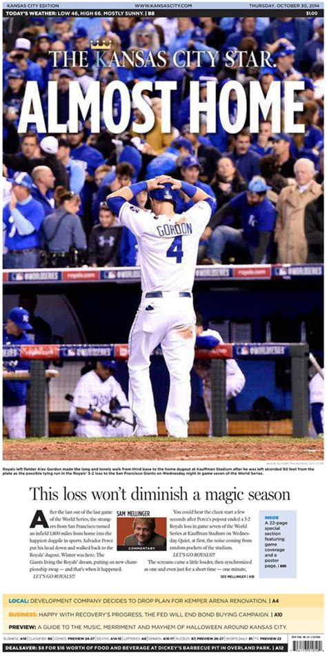 kansas city star sports section a look at thursday s world series pages charles apple