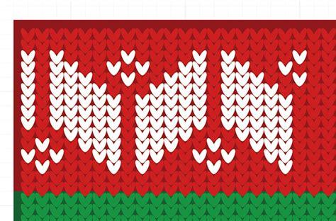 illustrator knitting tutorial how to create a christmas jumper pattern in illustrator